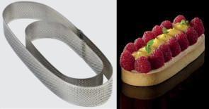 Bande ovale micro-perforé en acier inoxydable de Pavoni