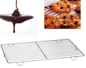 Grille à glacer avec pieds en acier inox