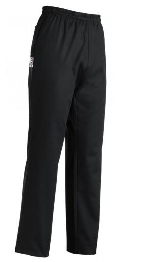 Pantalon unisexe noir à taille ajustable avec coulisse
