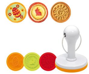 Moule timbre pour biscuits de Pâques 3 empreintes