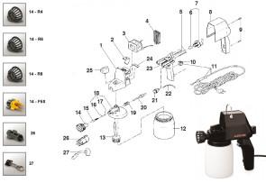 Pièces détachées pour pistolet pulvérisateur électrique Alexo 200
