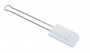 Spatule en silicone blanche avec poignée en acier inoxydable de Schneider