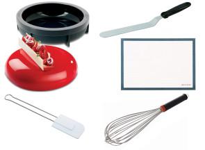 Ensemble de pâtisserie Planet Cake: moule et tapis en silicone - fouet - spatules