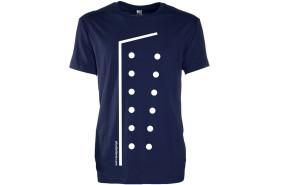 T-shirt CHEF Uniforme créatif avec logo AFcoltellerie - Couleur Bleu Foncé