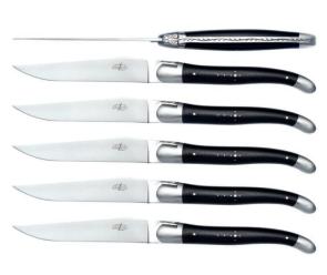 Set 6 coltelli ebano Forge de Laguiole