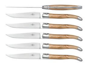 Set 6 coltelli olivo Laguiole