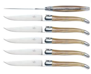 Set 6 coltelli corno biondo Laguiole