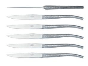 Coffret de 6 couteaux à steak conçus en collaboration avec Philippe Starck de Forge de Laguiole®