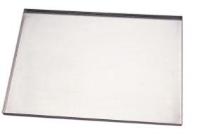 Plateau plat en aluminium Pliez le bord 40x30x3 cm. par Pavoni Professional