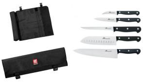 Compact: Mallette avec 5 couteaux Due Cigni Coltellerie