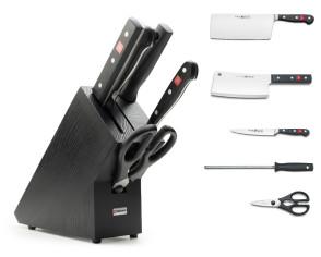 Bloc couteaux Asiatic-Classic avec couteaux et accessoires Série Classic de Wusthof