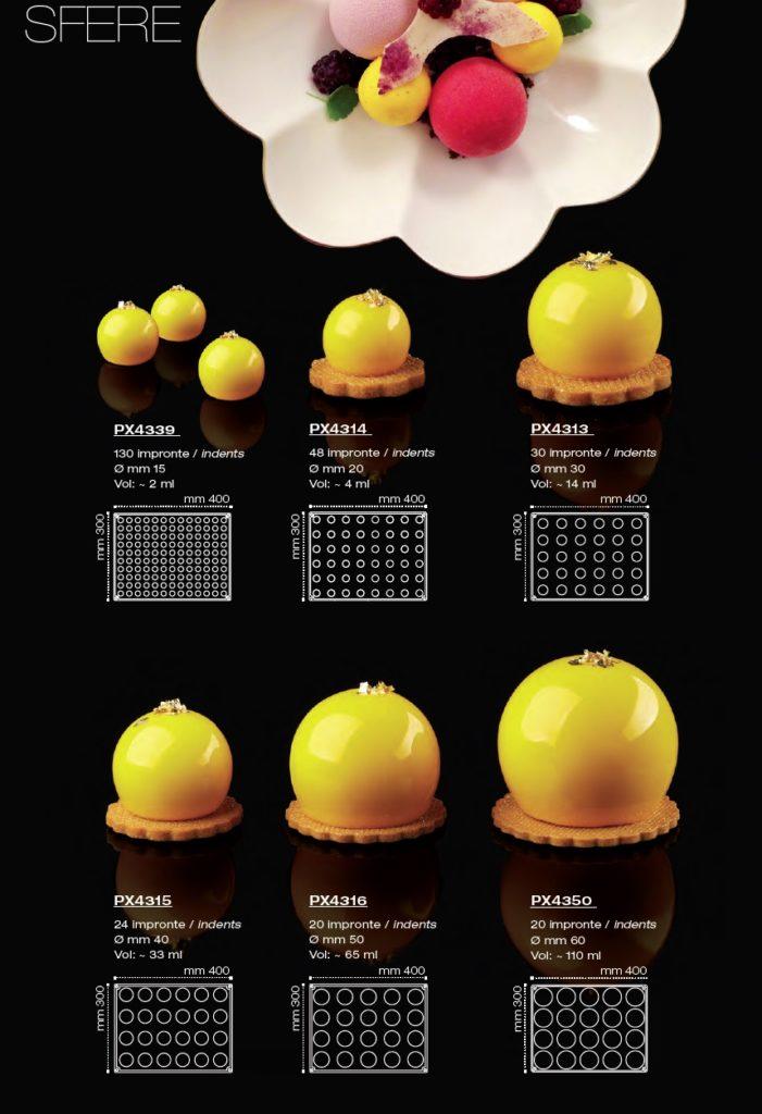 Stampi sfera silicone Pavoni