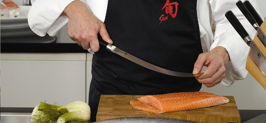 Coltello salmone lama flessibile