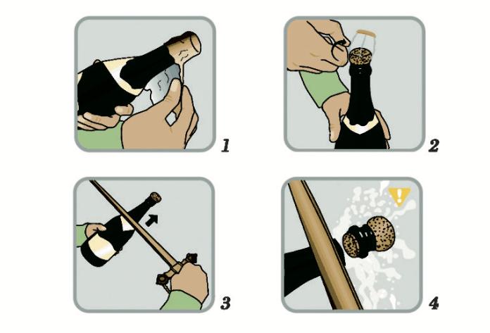 Come sciabolare champagne