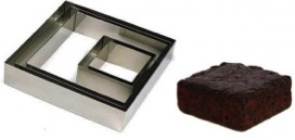 anelli per torte quadrati